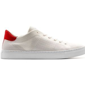 GREATS Royale Knit Sneakers White Red
